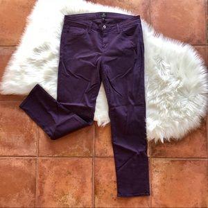 NWOT Just Black Purple Toothpick Denim Jeans